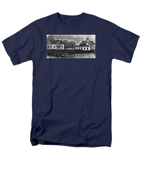 Men's T-Shirt  (Regular Fit) featuring the digital art Mukilteo Lighthouse And The Dock by Kirt Tisdale