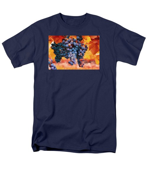Men's T-Shirt  (Regular Fit) featuring the photograph Multicolored Grapes by Lynn Hopwood