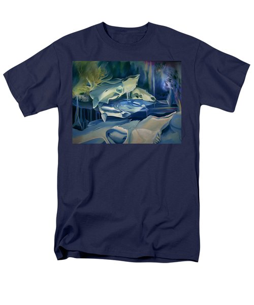 Men's T-Shirt  (Regular Fit) featuring the painting Mural Skulls Of Lifes Past by Nancy Griswold