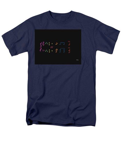 Men's T-Shirt  (Regular Fit) featuring the digital art Music Notes 35 by David Bridburg