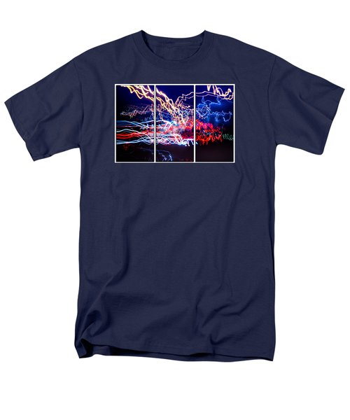 Neon Ufa Triptych Number 1 Men's T-Shirt  (Regular Fit) by John Williams