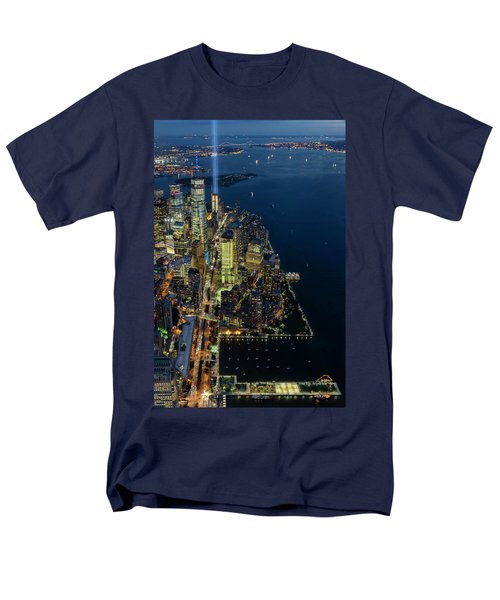 Men's T-Shirt  (Regular Fit) featuring the photograph New York City Remembers 911 by Susan Candelario