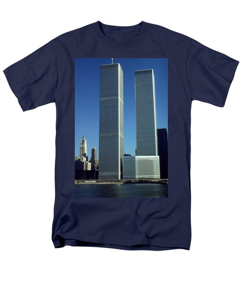 New York World Trade Center Before 911 - Architecture Men's T-Shirt  (Regular Fit) by Art America Gallery Peter Potter