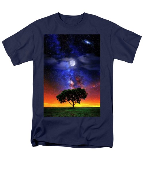 Night Colors Men's T-Shirt  (Regular Fit) by Justin Kelefas