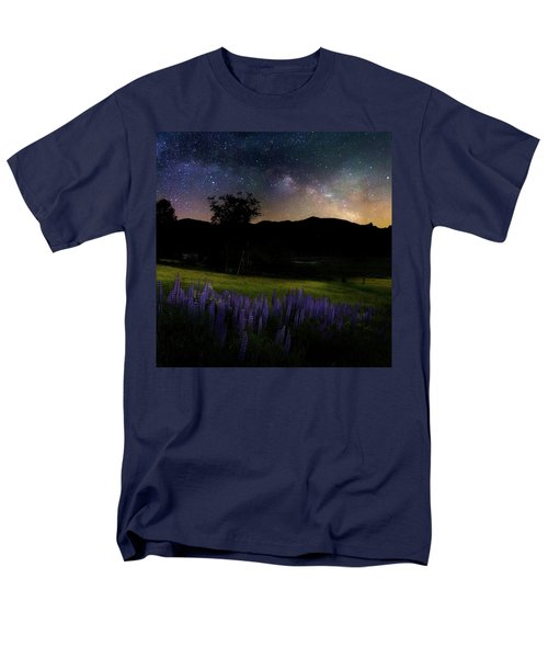 Men's T-Shirt  (Regular Fit) featuring the photograph Night Flowers Square by Bill Wakeley