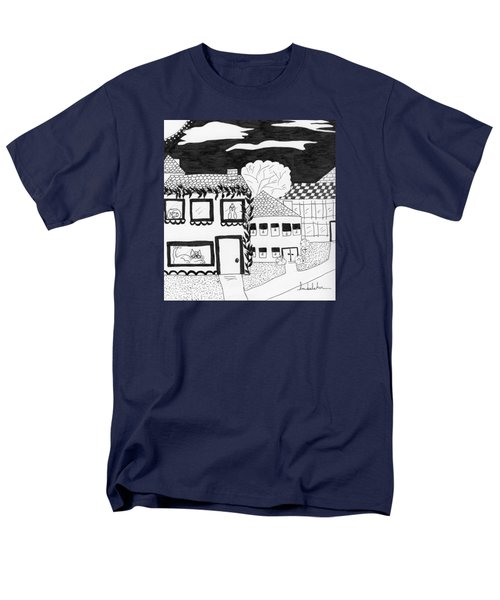 Men's T-Shirt  (Regular Fit) featuring the painting Night Watch by Lou Belcher