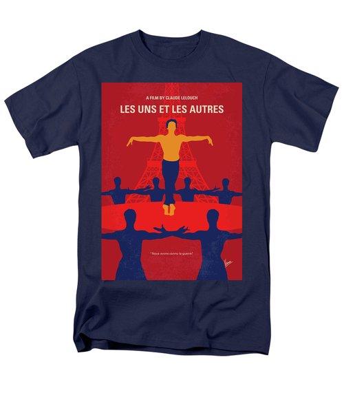Men's T-Shirt  (Regular Fit) featuring the digital art No771 My Les Uns Et Les Autres Minimal Movie Poster by Chungkong Art