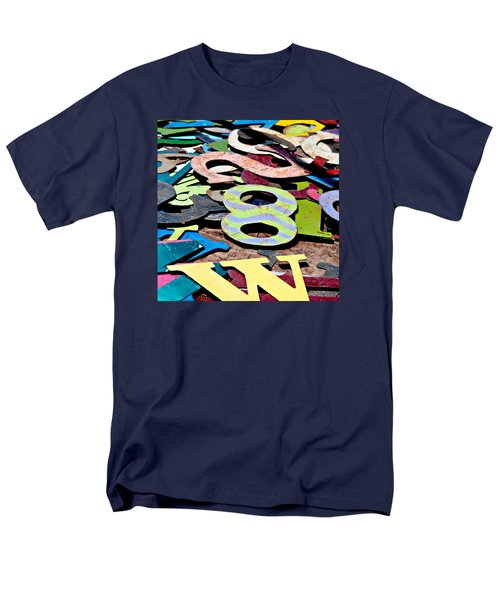 Number 8 Men's T-Shirt  (Regular Fit) by Art Block Collections