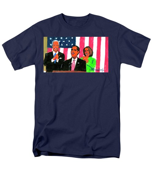 Obama's State Of The Union '10 Men's T-Shirt  (Regular Fit) by Candace Lovely