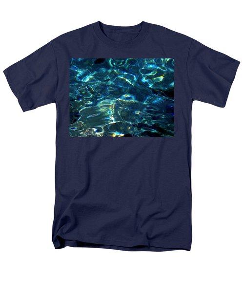 Men's T-Shirt  (Regular Fit) featuring the photograph Ocean Water Reflections Island Santorini Greece by Colette V Hera  Guggenheim