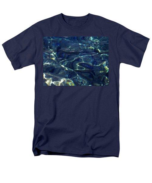 Men's T-Shirt  (Regular Fit) featuring the photograph Ocean Water Reflections.santorini Island Greece by Colette V Hera  Guggenheim