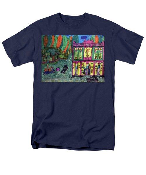 Oddfellows Building. Historical Menominee Art. Men's T-Shirt  (Regular Fit) by Jonathon Hansen
