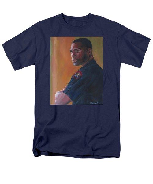 Officer Men's T-Shirt  (Regular Fit) by Connie Schaertl