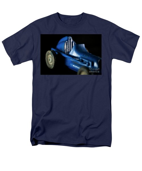 Old Blue Toy Race Car Men's T-Shirt  (Regular Fit) by Wilma Birdwell