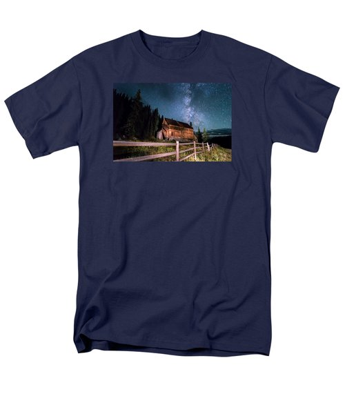 Old Mining Camp Under Milky Way Men's T-Shirt  (Regular Fit) by Michael J Bauer
