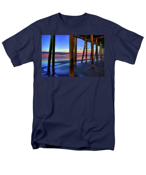 Men's T-Shirt  (Regular Fit) featuring the photograph Old Orchard Beach Pier -maine Coastal Art by Joann Vitali