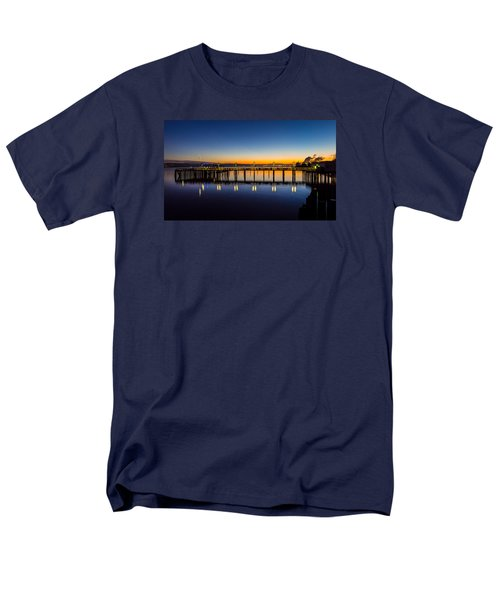 Men's T-Shirt  (Regular Fit) featuring the photograph Old Town Pier Blue Hour Sunrise by Rob Green