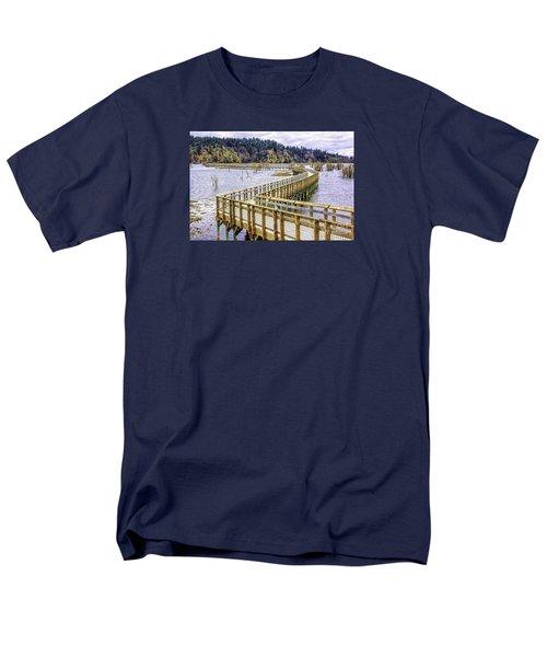 On The Boardwalk  Men's T-Shirt  (Regular Fit) by Jean OKeeffe Macro Abundance Art