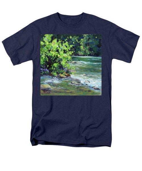 On The River Men's T-Shirt  (Regular Fit) by Karen Ilari
