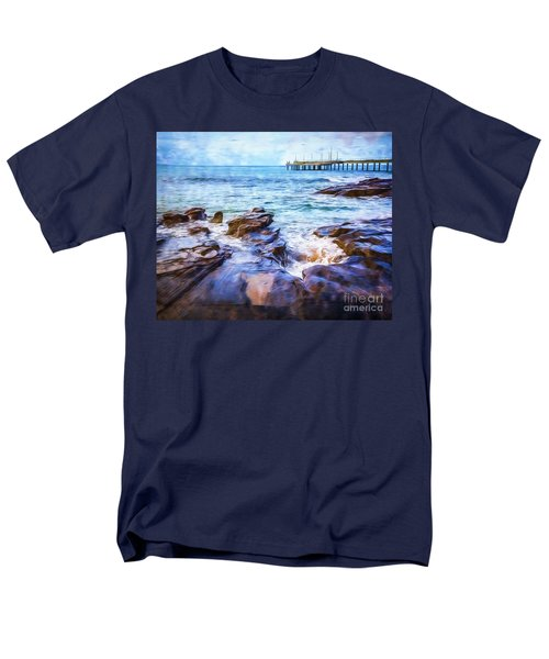 Men's T-Shirt  (Regular Fit) featuring the photograph On The Rocks by Perry Webster