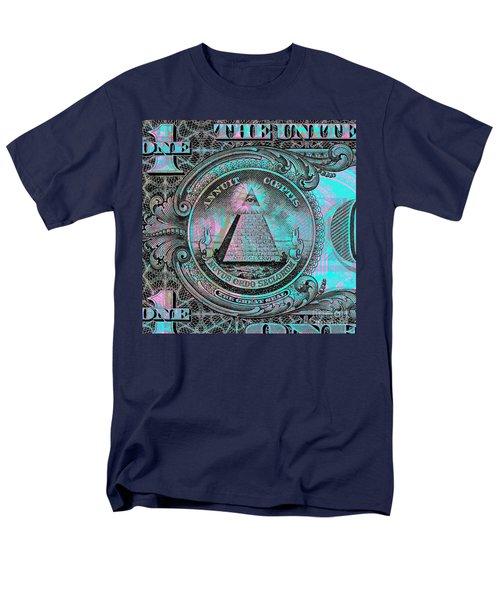 One-dollar-bill - $1 - Reverse Side Men's T-Shirt  (Regular Fit) by Jean luc Comperat