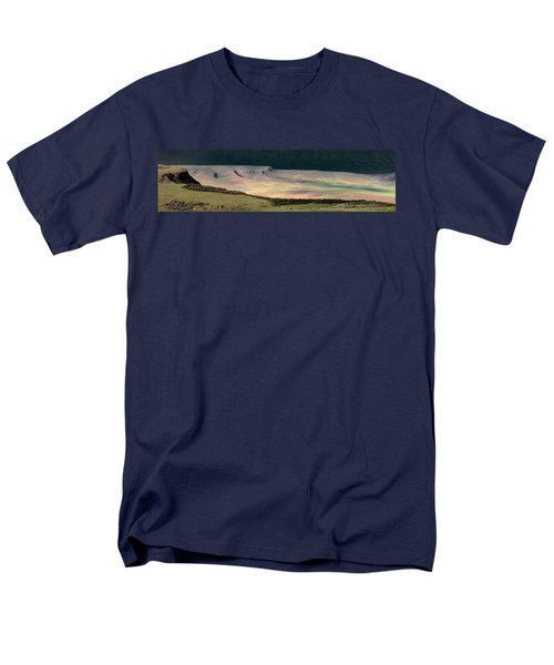 Men's T-Shirt  (Regular Fit) featuring the photograph Oregon Canyon Mountain Layers by Leland D Howard