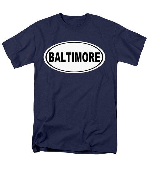 Men's T-Shirt  (Regular Fit) featuring the photograph Oval Baltimore Maryland Home Pride by Keith Webber Jr