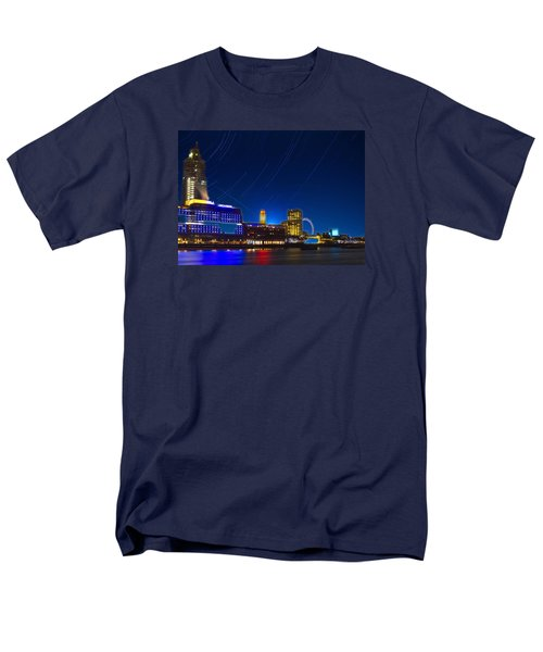 Oxo Tower Star Trails Men's T-Shirt  (Regular Fit) by David French