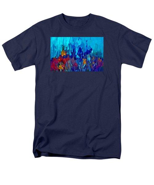Painterly Garden Flowers Men's T-Shirt  (Regular Fit) by Lisa Kaiser