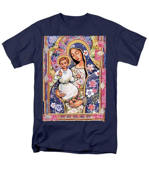 Men's T-Shirt  (Regular Fit) featuring the painting Panagia Eleousa by Eva Campbell