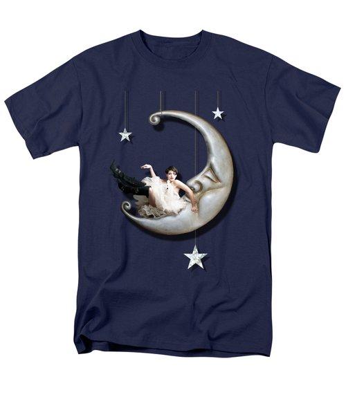 Men's T-Shirt  (Regular Fit) featuring the digital art Paper Moon by Linda Lees