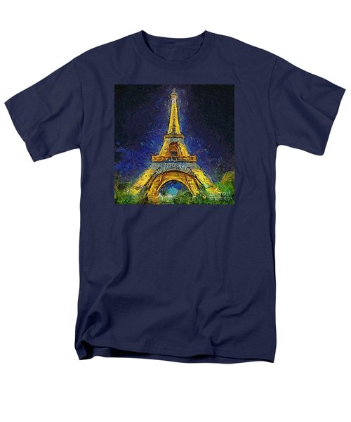 Men's T-Shirt  (Regular Fit) featuring the painting Paris By Night by Dragica  Micki Fortuna