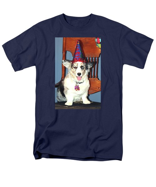 Men's T-Shirt  (Regular Fit) featuring the photograph Party Time Dog by Cathy Donohoue