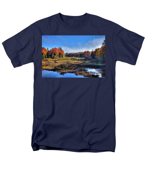 Men's T-Shirt  (Regular Fit) featuring the photograph Patches Of Fog At The Green Bridge by David Patterson