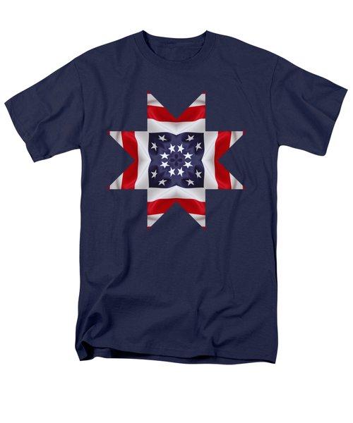 Patriotic Star 2 - Transparent Background Men's T-Shirt  (Regular Fit) by Jeff Kolker