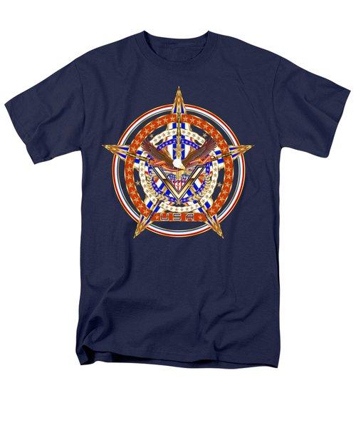 Patroitic-veteran Men's T-Shirt  (Regular Fit) by Bill Campitelle