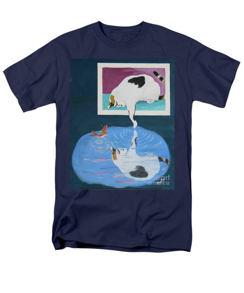 Men's T-Shirt  (Regular Fit) featuring the painting Paws And Effect by Phyllis Kaltenbach