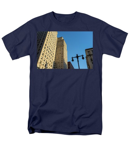 Men's T-Shirt  (Regular Fit) featuring the photograph Philadelphia Urban Landscape - 0948 by David Sutton