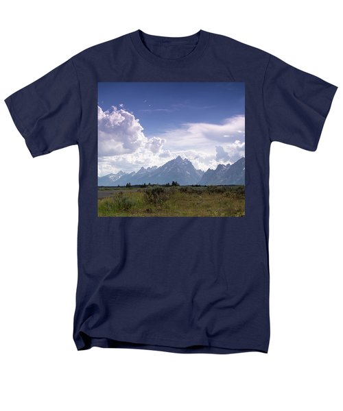Men's T-Shirt  (Regular Fit) featuring the photograph Photographing The Tetons by Dawn Romine