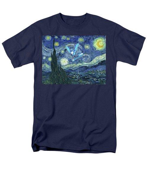 Men's T-Shirt  (Regular Fit) featuring the digital art Pokevangogh Starry Night by Greg Sharpe