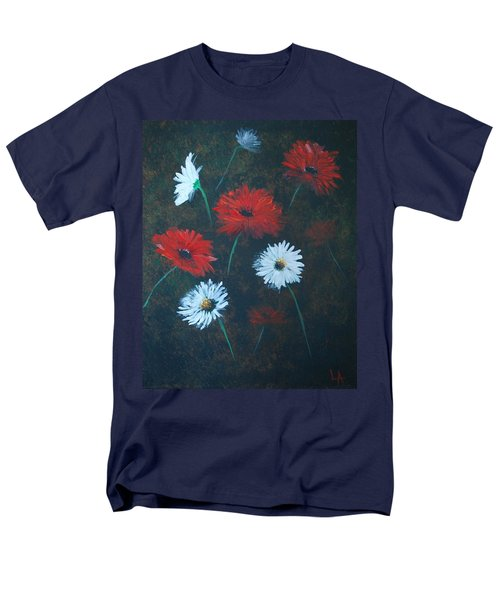 Men's T-Shirt  (Regular Fit) featuring the painting Poppin Daisies by Leslie Allen