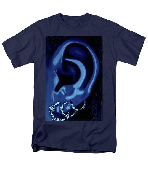 Portrait Of My Ear In Blue Men's T-Shirt  (Regular Fit)