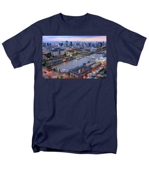 Puerto Madero Pier 3 Men's T-Shirt  (Regular Fit) by Bernardo Galmarini