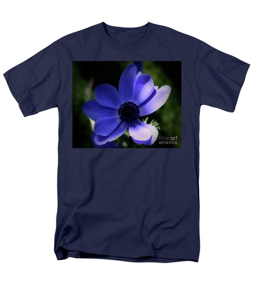 Men's T-Shirt  (Regular Fit) featuring the photograph Purple Anemone by Stephen Melia