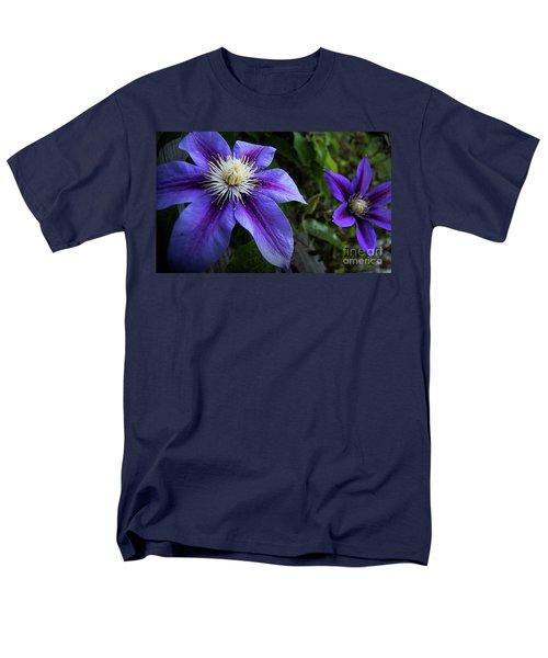 Purple Flowers Men's T-Shirt  (Regular Fit) by Brian Jones