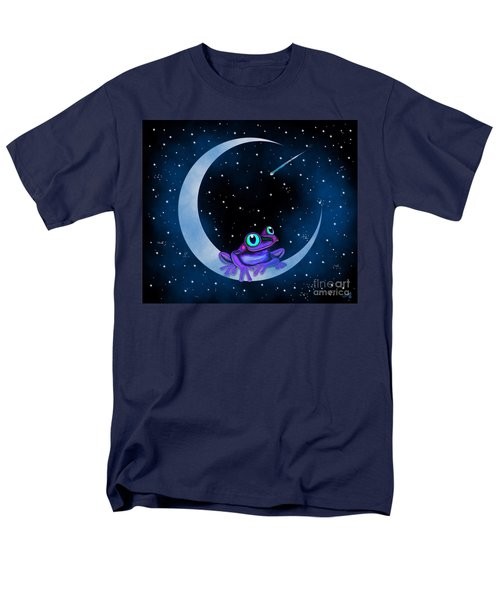 Men's T-Shirt  (Regular Fit) featuring the painting Purple Frog On A Crescent Moon by Nick Gustafson