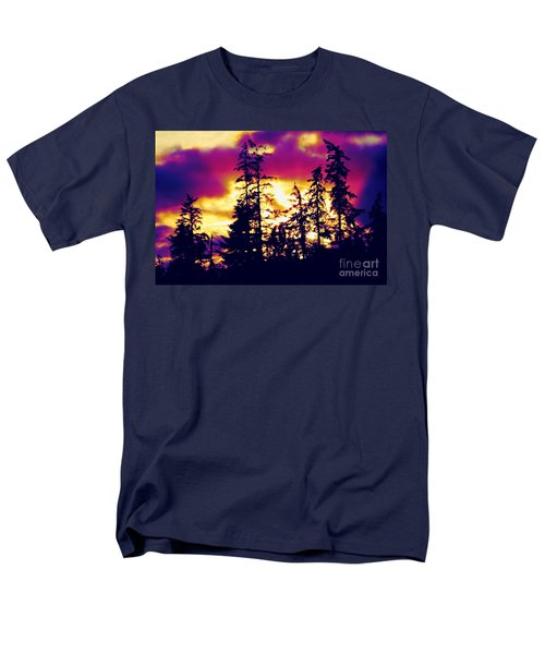 Men's T-Shirt  (Regular Fit) featuring the photograph Purple Haze Forest by Nick Gustafson