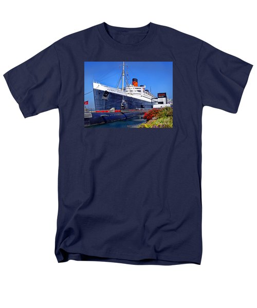 Men's T-Shirt  (Regular Fit) featuring the photograph Queen Mary Ship by Mariola Bitner