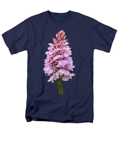 Radiant Wild Pink Spotted Orchid Men's T-Shirt  (Regular Fit) by Gill Billington
