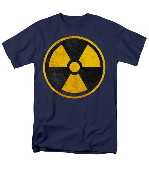 Vintage Distressed Nuclear War Fallout Shelter Sign Men's T-Shirt  (Regular Fit) by Peter Gumaer Ogden Collection